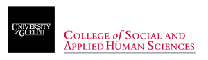 University of Guelph College of Social and Applied Human Sciences logo.
