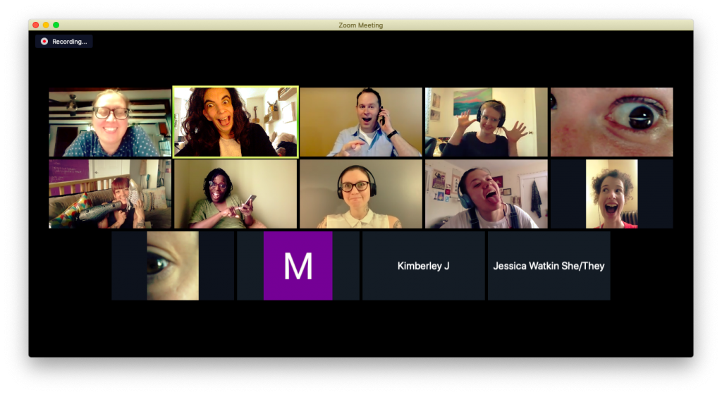 User focus group on zoom screen